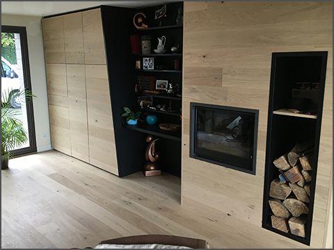 Rénovation complète d\'un salon. Conception, fabrication & design ...