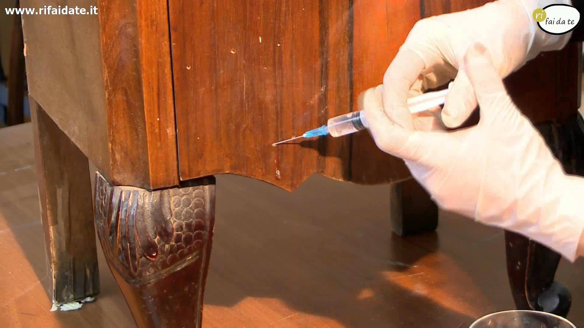 Restaurare Tavolo Legno Rovinato trattamento antitarlo | restauro mobili fai da te, mobili