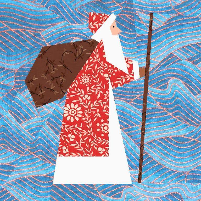 Santa Claus Paper Pieced Block | Navidad patchwork, Navidad y Bordado