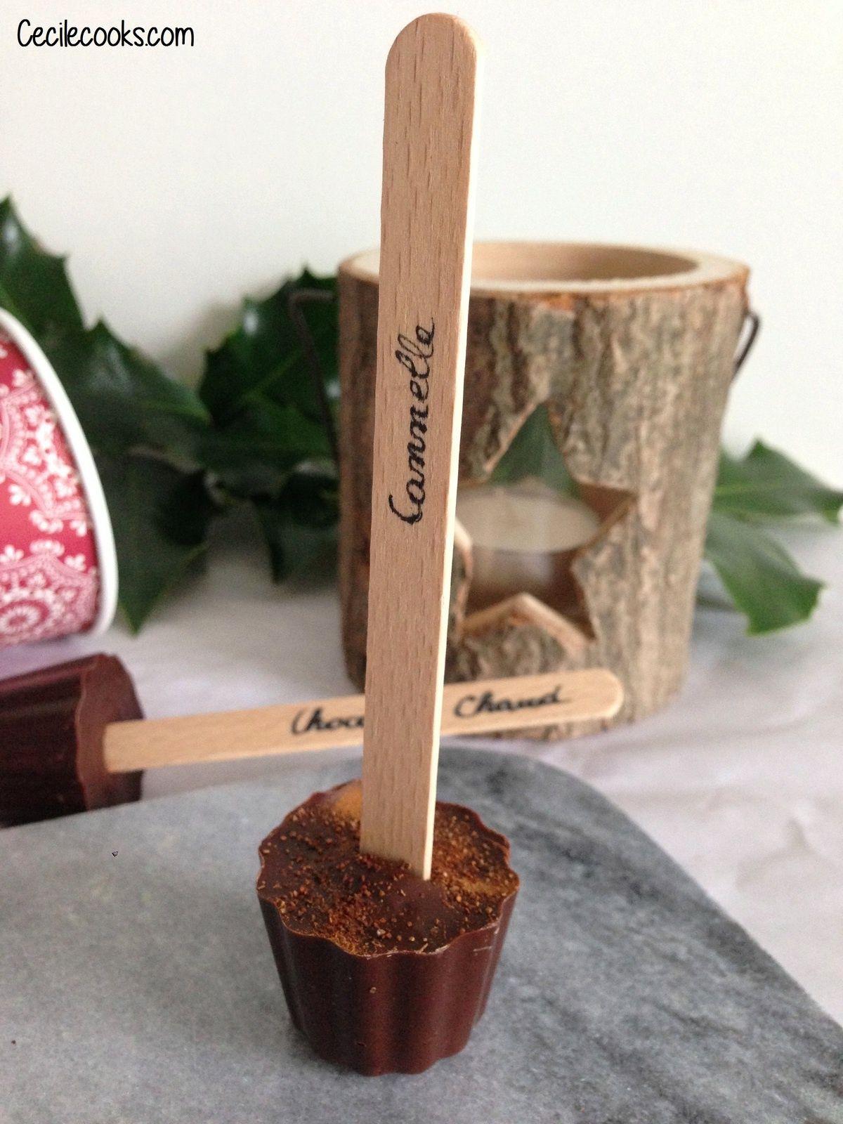 calendrier de l 39 avent 11 sucettes chocolat chaud cecilecooks recettes pinterest. Black Bedroom Furniture Sets. Home Design Ideas
