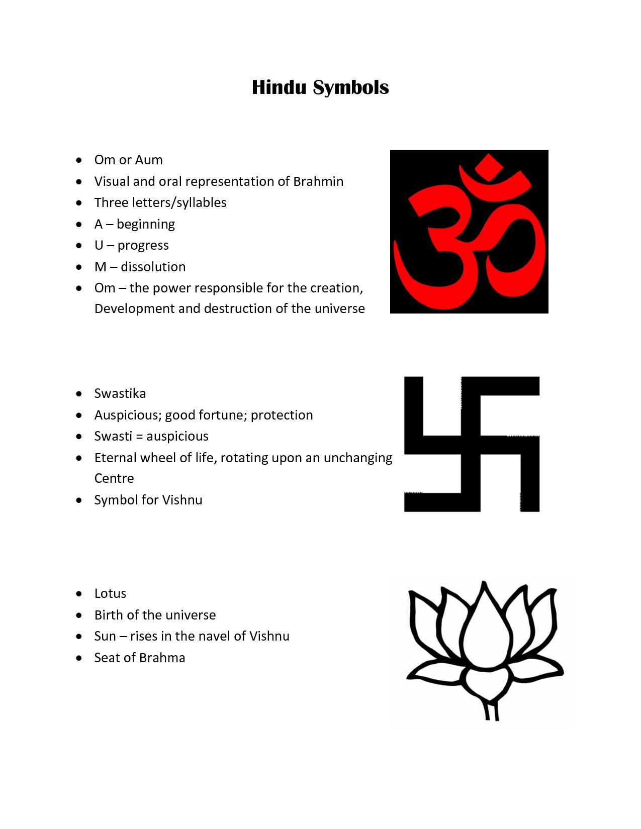 Hindu Symbols | Hindu Symbols - ClassNet | Symbols of hinduism ...