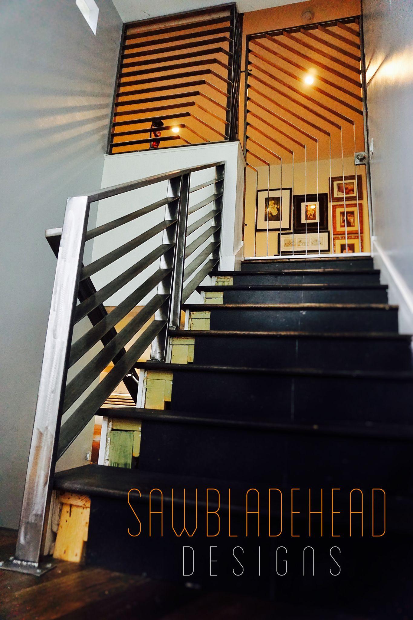 Sawbladehead Designs Works Of Functional Art Brushed Steel Railing, Window
