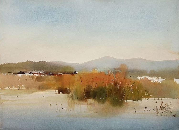 Spotlight On An Artist Ping Long Watercolor Landscape