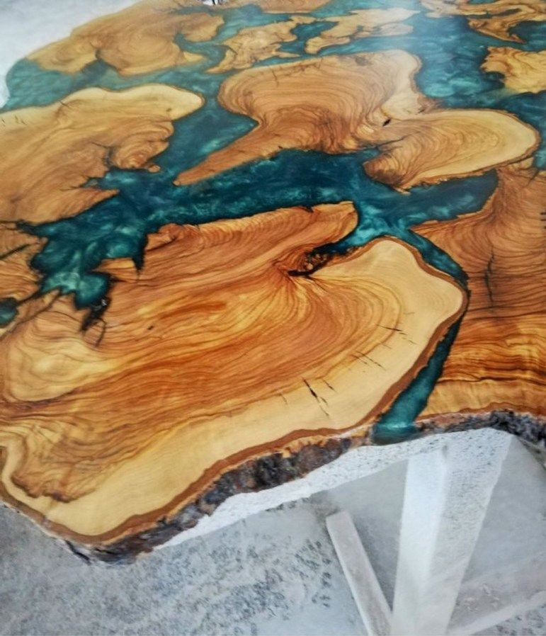 Awesome resin wood tables ideas for your home furniture 26
