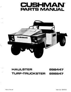 Vintage Cushman Turf Truck Utility Vehicle Utility Vehicles Trucks Repair Manuals