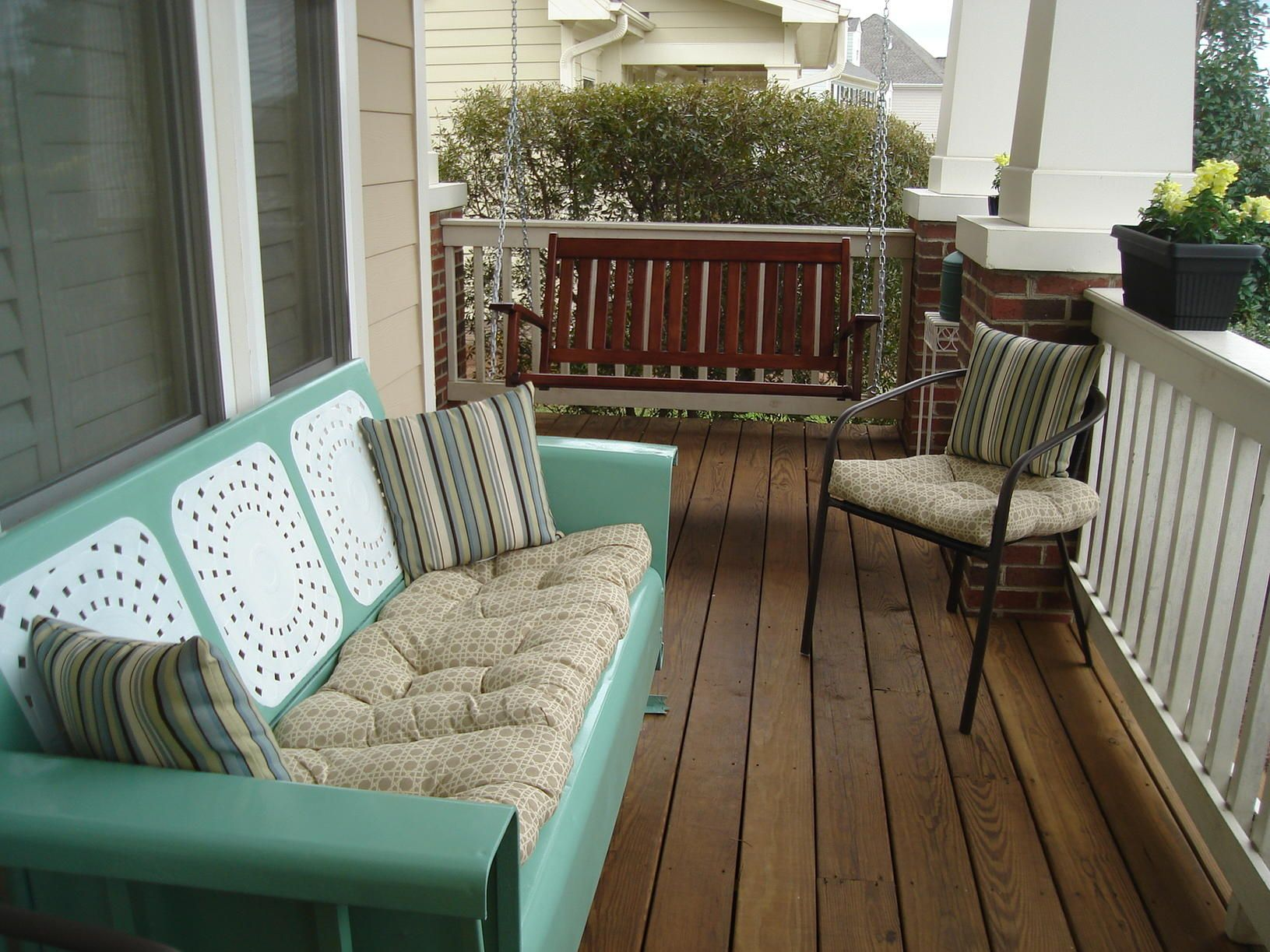 This Glider Is Already The Right Color,but I Would Definitively Change Out  The Cushions. Vintage Outdoor ...