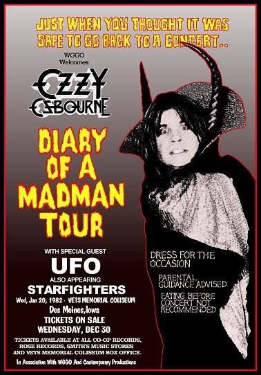 Ozzy Osbourne-Diary of a Madman Tour...............