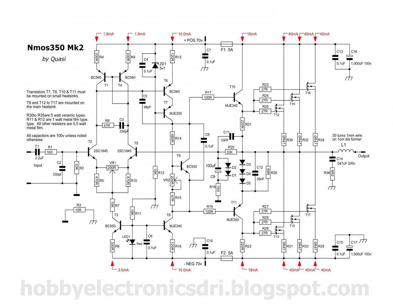Powerful High Quality Amplifier In 2018 Electronic Projects Audio Circuit Diagram Circuits