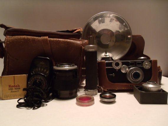 Vintage Argus Film Camera Leather Bag by AsItNeverWasVintage