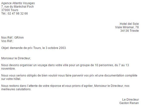 Come Scrivere Una Lettera Commerciale In Francese Lettera Francese