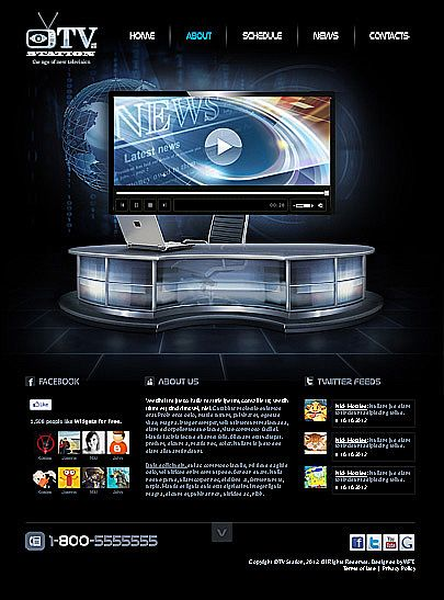 Radio Station Template. tv station html5 website template price 29 ...