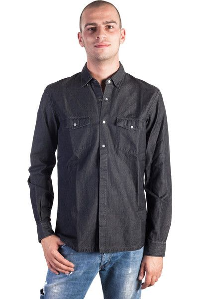 Buy online man Pirelli PZero black long sleeves denim cotton shirt  by Pirelli PZero  for € 44,00 on Luxyuu. Available now shirt long sleeves button closure 2 pockets with buttons material: 100% cotton color: black denim http://www.luxyuu.com/pirelli-pzero-pirelli-pzero-black-long-sleeves-denim-cotton-shirt-P21554.htm