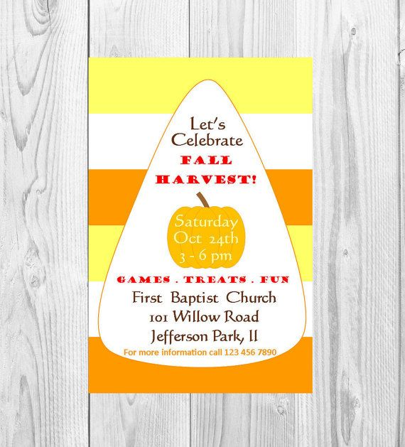 Church fall harvest invitation candy corn fall invitation fall church fall harvest invitation candy corn fall invitation fall gathering invitation fall party stopboris Images