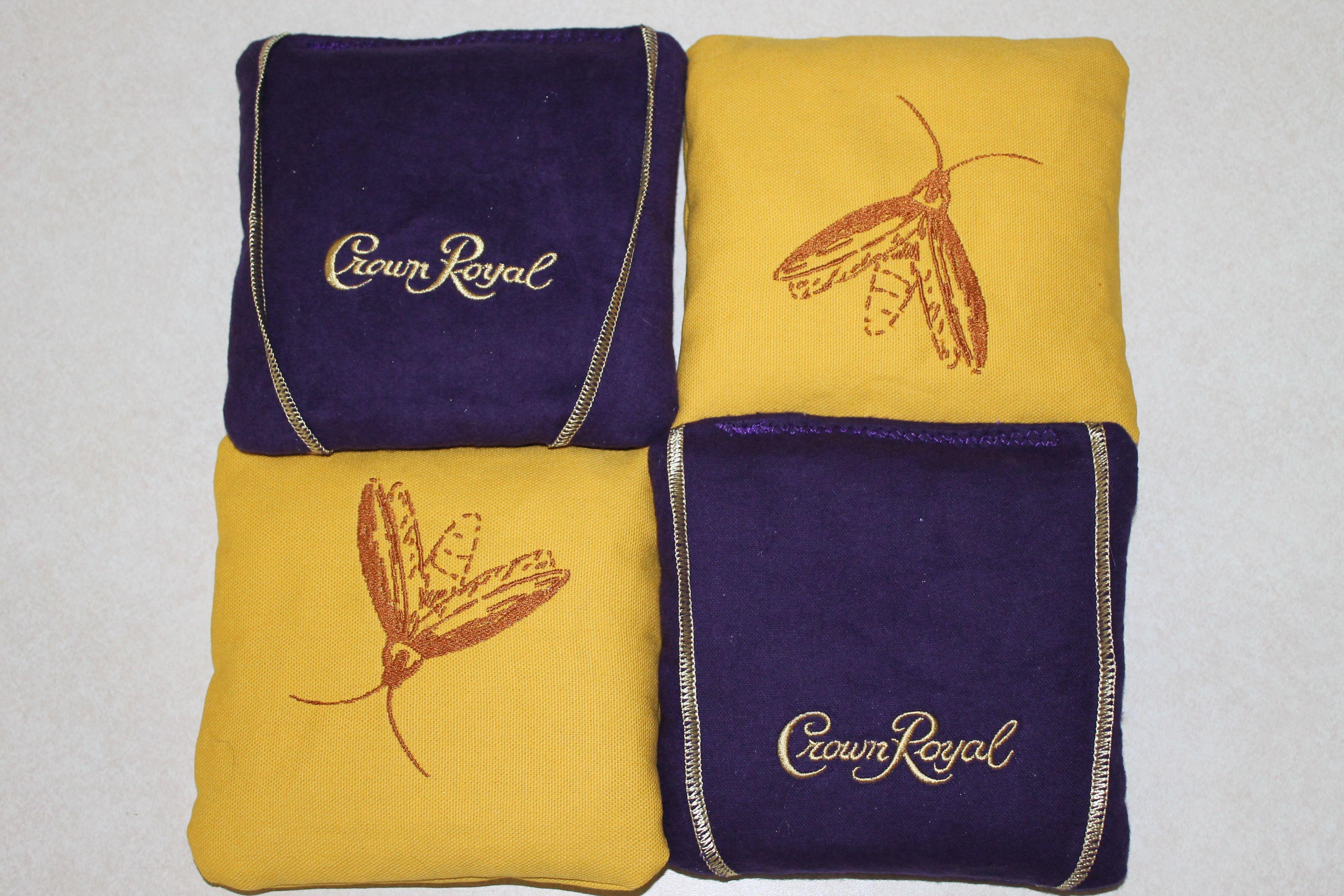 More Crown Royal cornhole bags