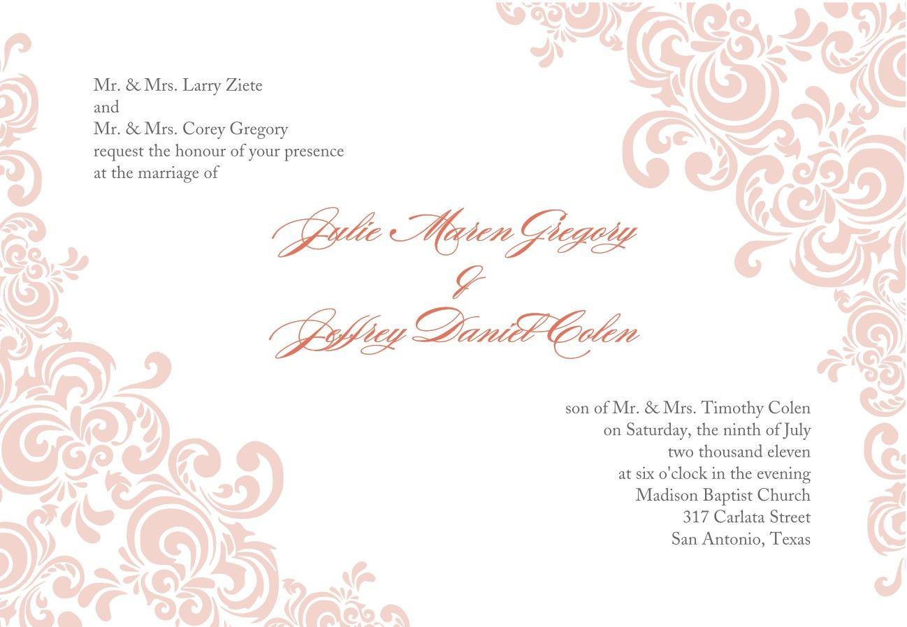 Formal Invitation Template Blank 3 | borders | Pinterest ...