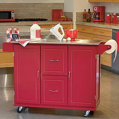 Kitchen Cart Jefferson Stainless Top Jcpenney Freestanding Storage