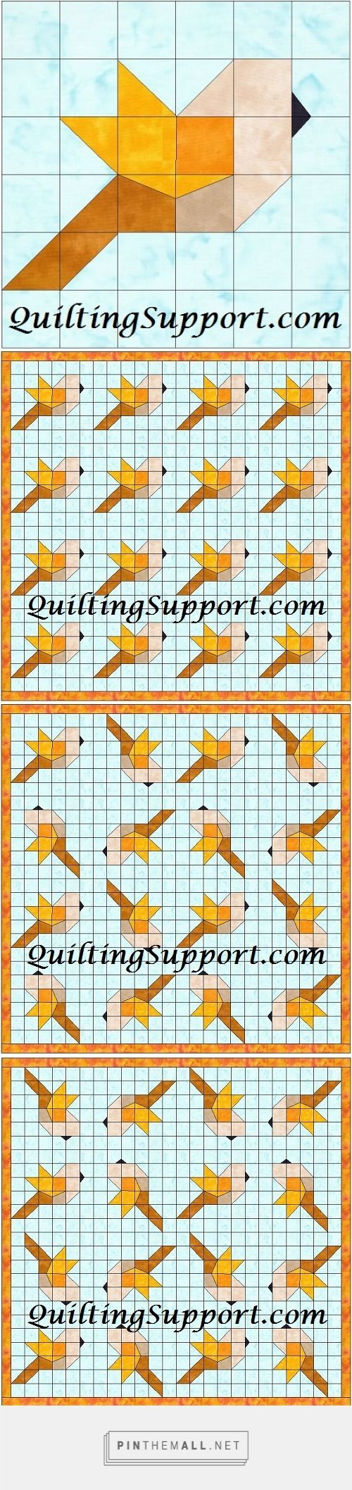 Bird Foundation Patterns | Pinterest | Patchwork anleitung ...