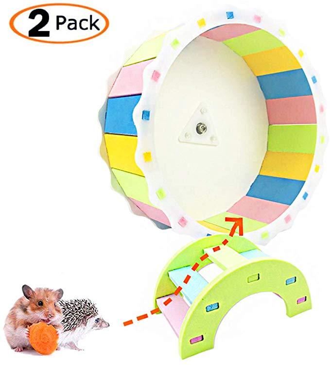 MUMAX Hamster Wheel Toy, Silent Spinner