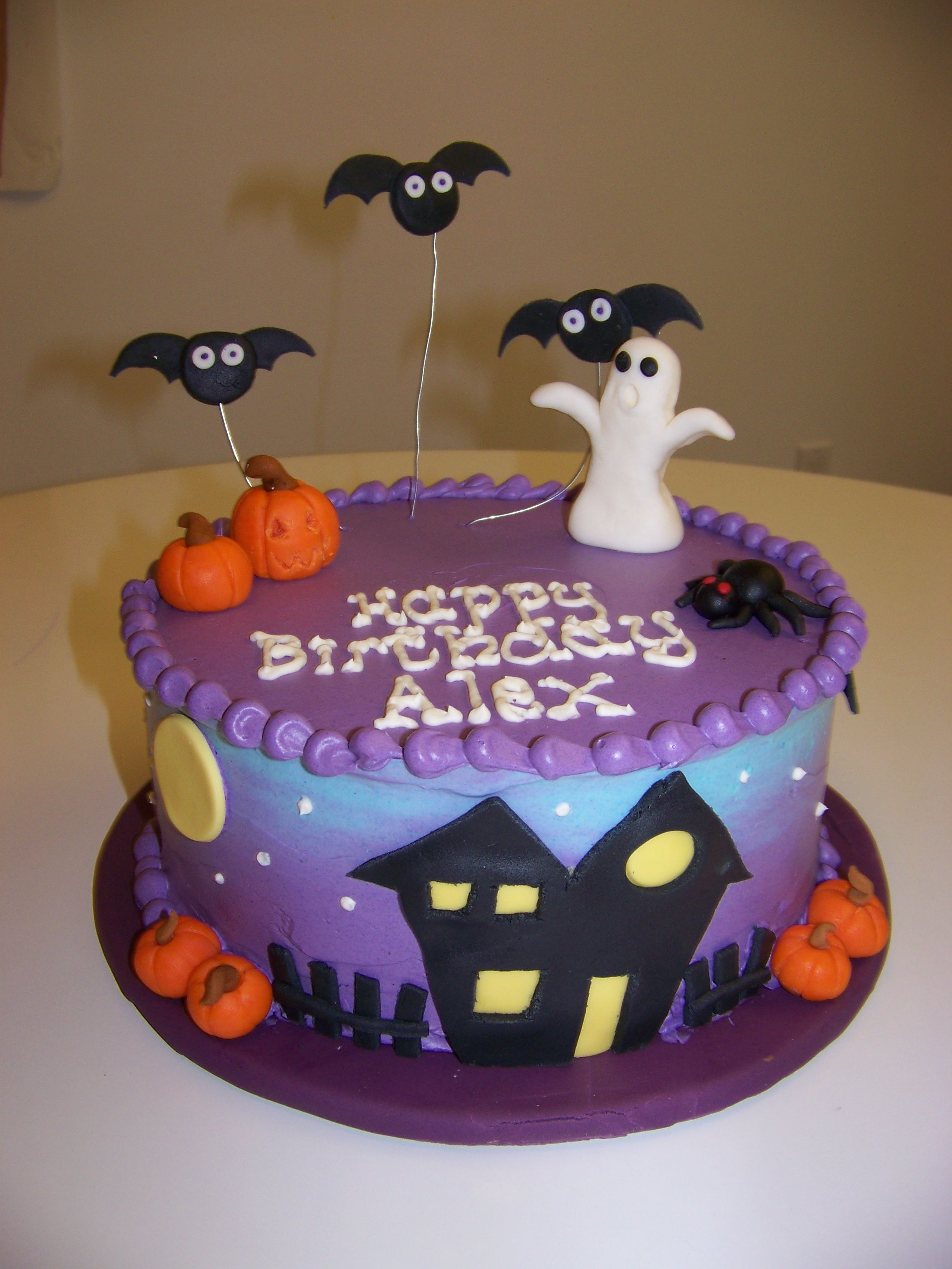 simple halloween birthday cakes
