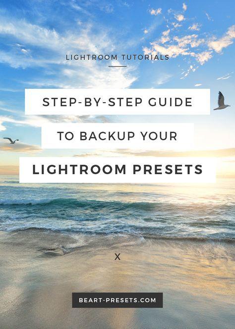 Backing up lightroom