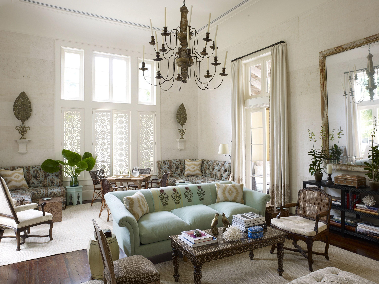 Tom Scheerer. A vast living room in Hobe Sound, Florida with ...