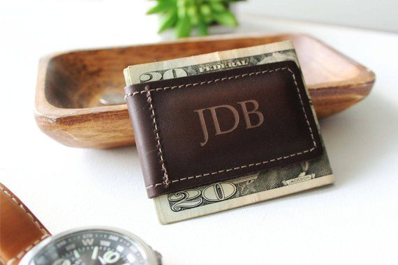 Money Clip Wallet Just Married Personalized Engraving Included