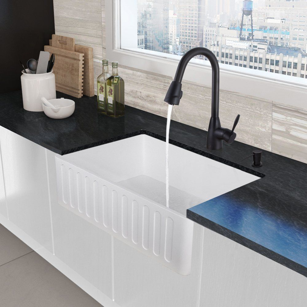 Clean FLO Bell Pull Down Kitchen Faucet