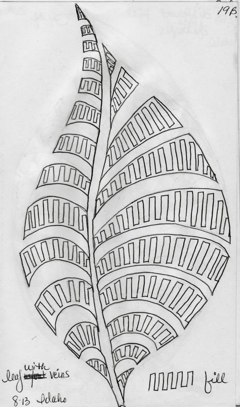 Sketch Book.....Leaf Designs 5 - LuAnn Kessi