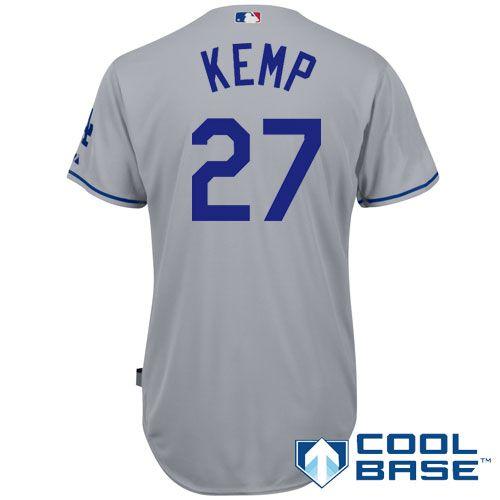 Los Angeles Dodgers Authentic Matt Kemp Road Cool Base Jersey - MLB.com Shop d8ed3f0e6