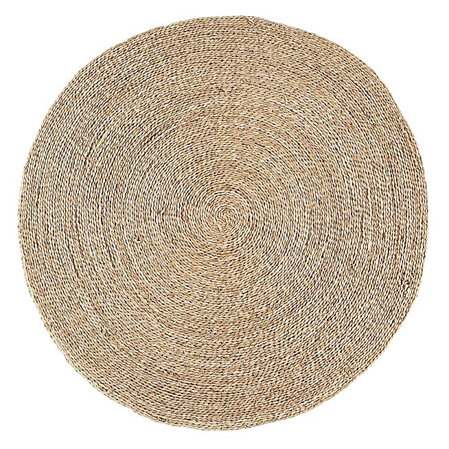 rush text tapis rond en jute d120cm jonc de mer tapis rond et jonc. Black Bedroom Furniture Sets. Home Design Ideas
