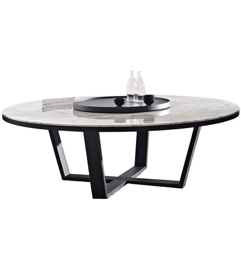 Xilos Round Table With Marble Top Maxalto Mesas Con Marmol