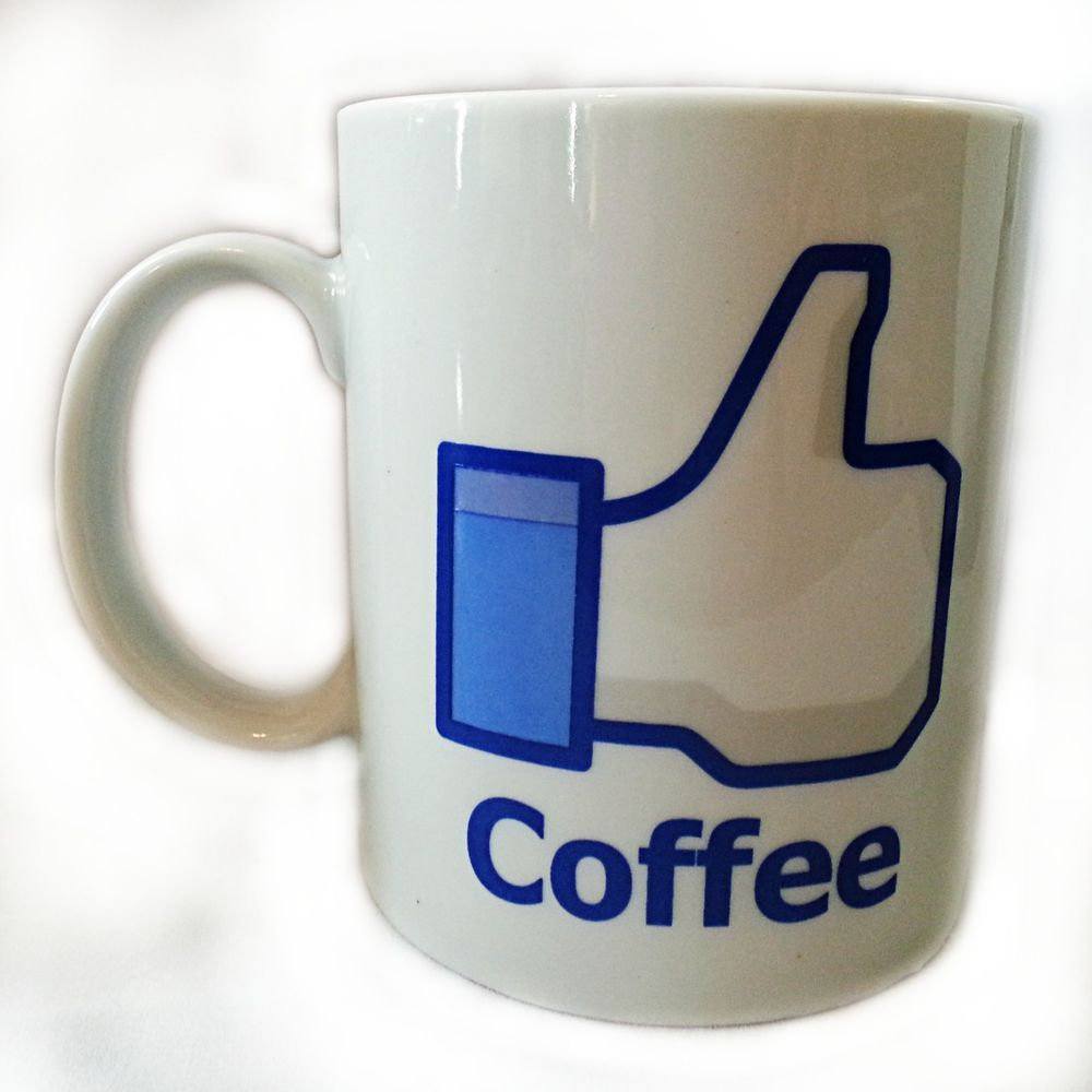 Like Thumbs Up Facebook Graphic Coffee Mug Cup 12oz Social Networking Gift k120