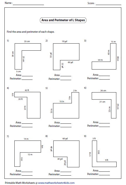 Area And Perimeter Of Irregular Shapes Worksheets Area And Perimeter Worksheets Perimeter Worksheets Area Worksheets