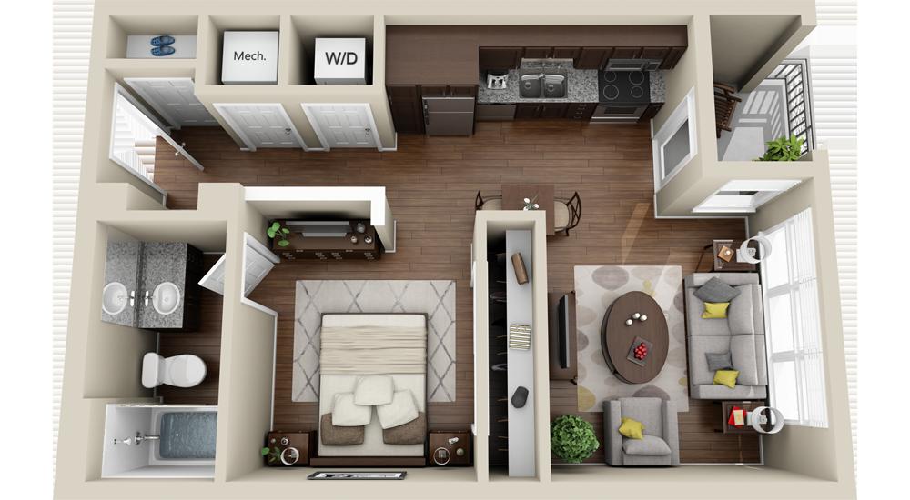 Attirant House · Картинки по запросу 3d Floor Plan Apartment