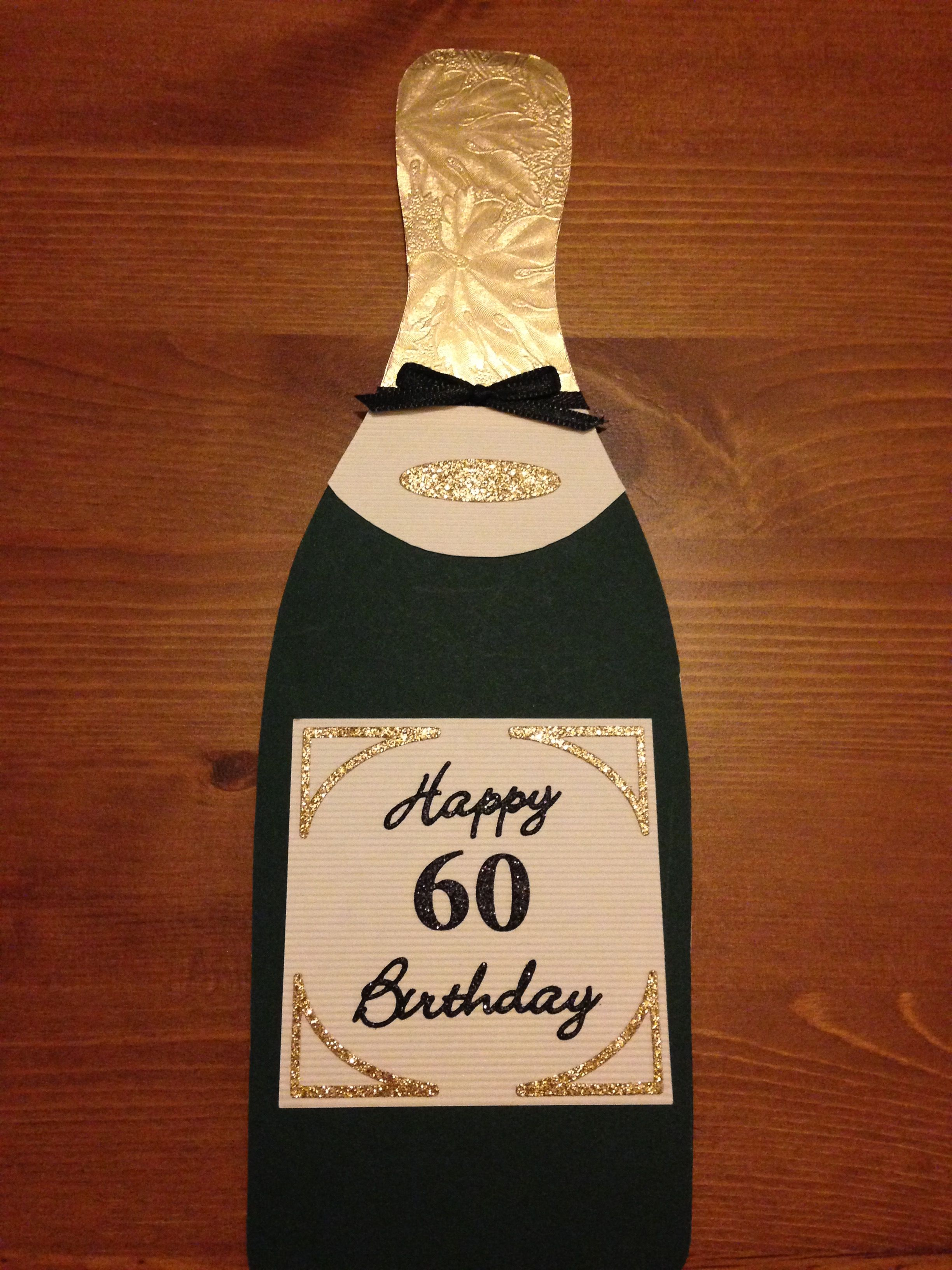 60th Champagne card