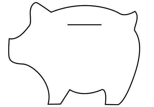 Felt piggy banks tutorial piggy banks free pattern and for How to make a simple piggy bank