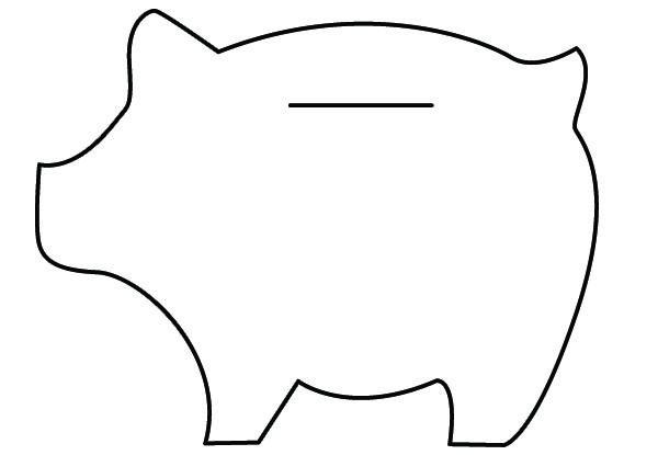 Felt Piggy Banks Tutorial | Felt ideas | Fieltro, Alcancias, Moldes
