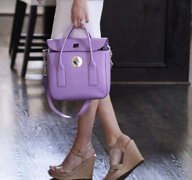 Veronika S Blushing 18 Weeks: Love This Lavender Kate Spade Bag Via Veronika's Blushing