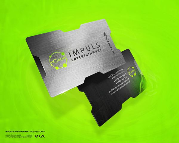 Awesome 3d Business Card Template With Metallic Shiny Effect Created By Pedrolifero For Business Cards Creative Metal Business Cards Business Card Inspiration