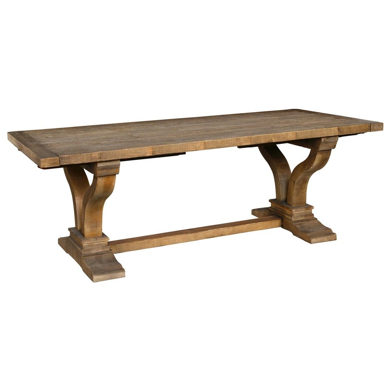 Spanish Farmhouse Reclaimed Wood Trestle Extension Table