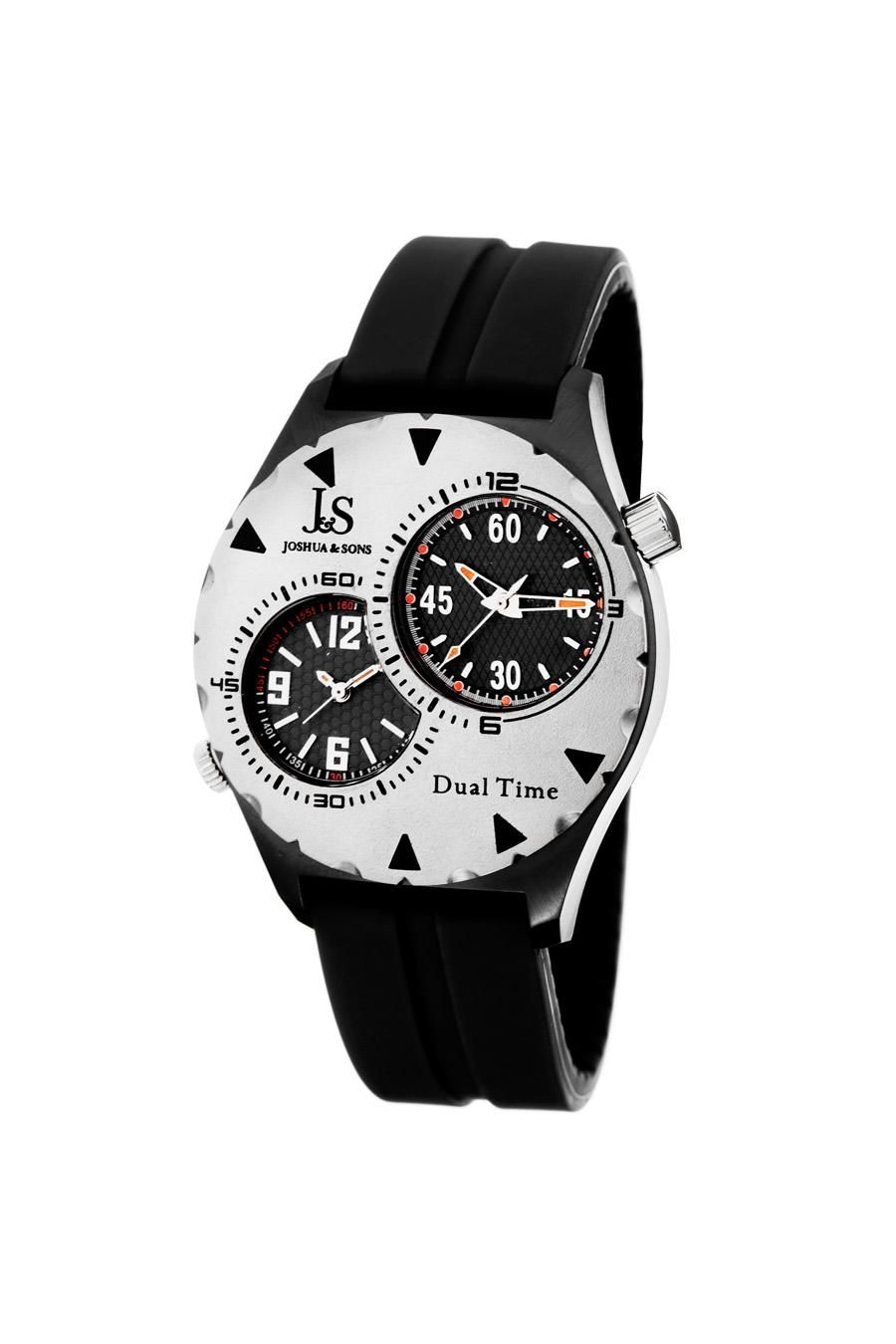 Joshua & Sons Dual Time Quartz Watch