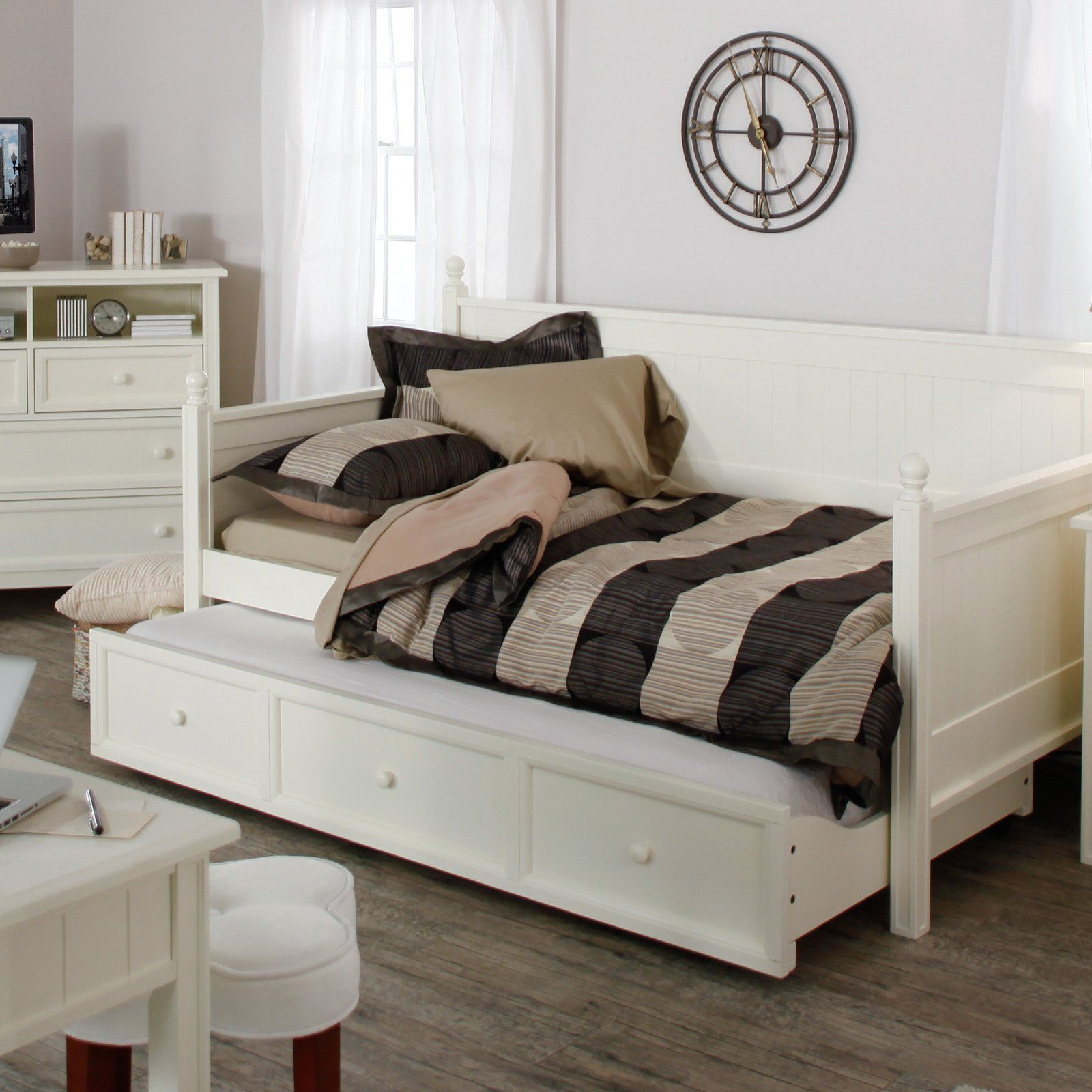 - Casey Daybed - White - Daybeds At Daybeds White Wood Daybed