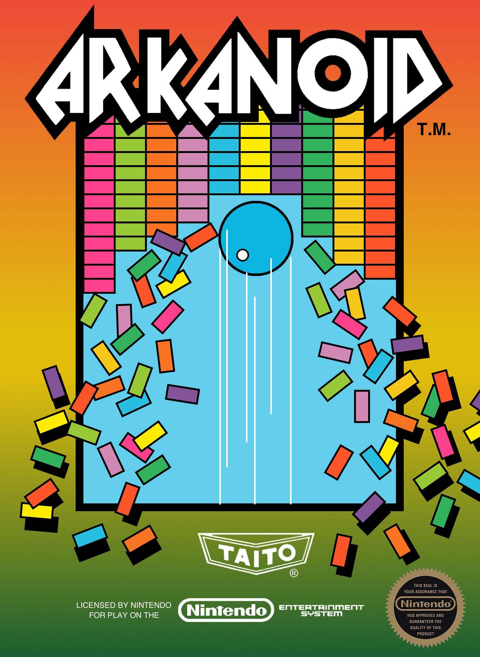 Image result for arkanoid nes box art