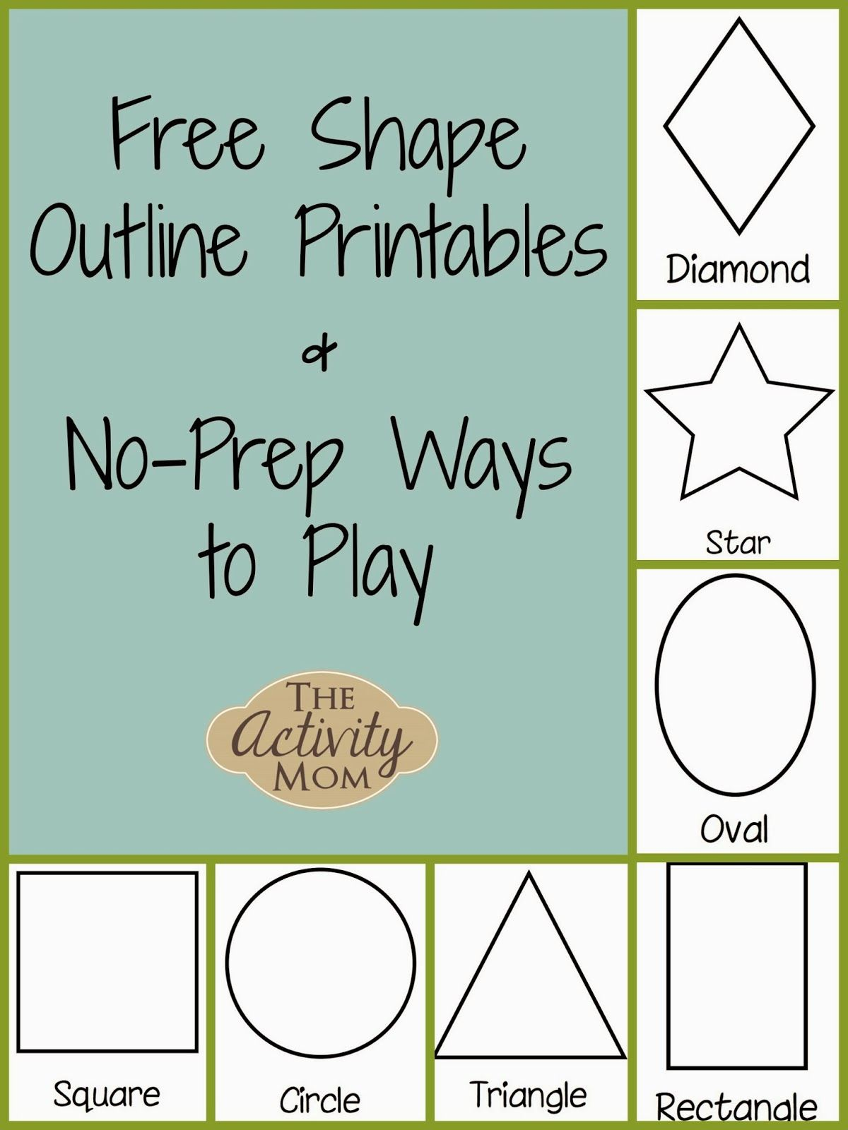Shape Activities For Toddlers Printable The Activity