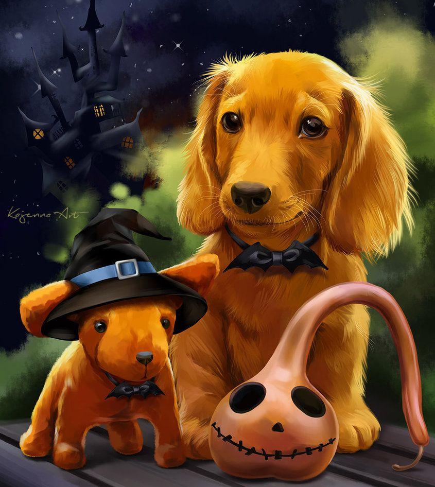 Boo By Kajenna Deviantart Com On Deviantart Dog Poster Dog Art Halloween Art