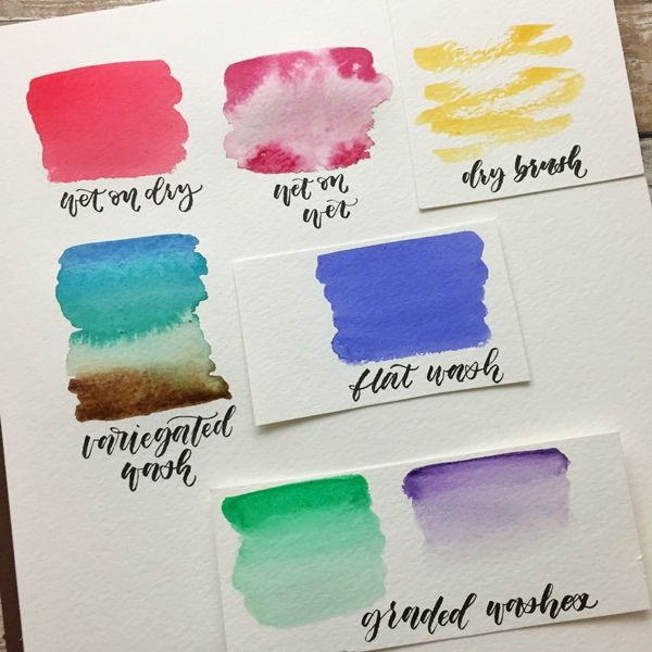 Brush Lettering Watercolor Workshop Watercolor Workshop