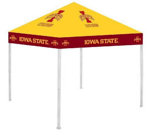 """Iowa State Cyclones NCAA Ultimate Tailgate Canopy (9x9) by Rivalry Distributing. $189.99. Item 020-ISC1-GLD by Rivalry Distributing in category NCAA > Iowa State Cyclones. NCAA Ultimate Tailgate Canopy. Stay cool and dry under the Ultimate Tailgate Canopy. Durable and water resistant 9' x 9' canopy. 12 wide valance with larger logos. Heavy duty steel frame and 180g/m2 fabric. Easy to set up and take down! Three - Height ad"""" Availability: Usually ships within 3-5 busin..."""