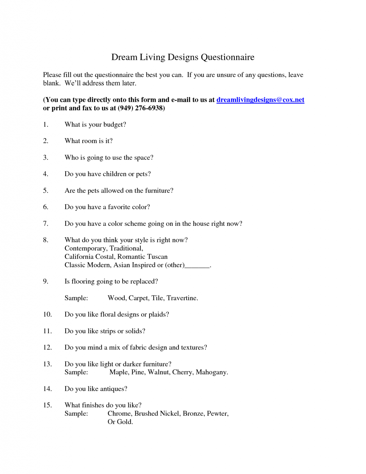 Template Interior Design Questionnaire For Clients How You Can Attend Template Interior D Design Clients Interior Design Consultation Interior Design Business