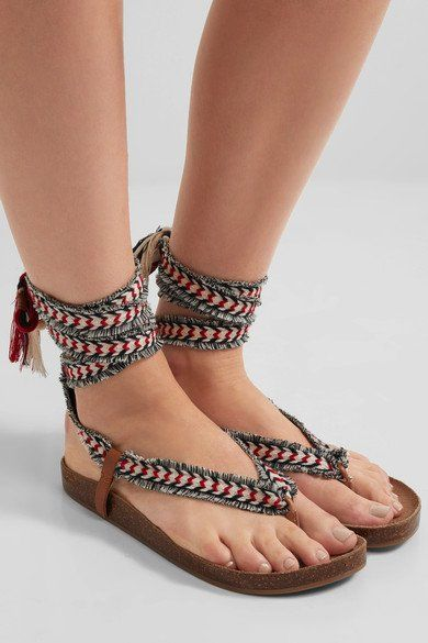 70% OFF! Was $130, Now $40!  SAM EDELMAN - KELBY TASSELED WOVEN SANDALS - RED   5.5-8.5  Get A Pair: http://shopstyle.it/l/bSm5