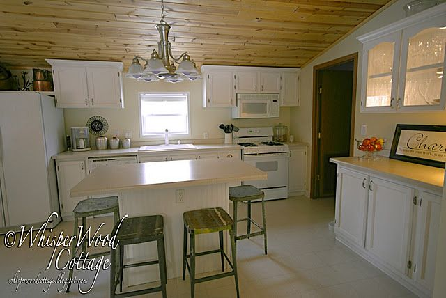 Kitchen in a Double Wide mobile home. Look what a difference ... on cape cod kitchen colors, industrial kitchen colors, mobile home deck colors, restaurant kitchen colors, victorian kitchen colors, mobile home cabinet colors, cottage kitchen colors, commercial kitchen colors, modular kitchen colors, mobile home glass cabinet doors, island kitchen colors, apartment kitchen colors, farm kitchen colors, mobile home country kitchens, rv kitchen colors, colonial kitchen colors, mobile home small kitchens, bungalow kitchen colors, mobile home paint colors,